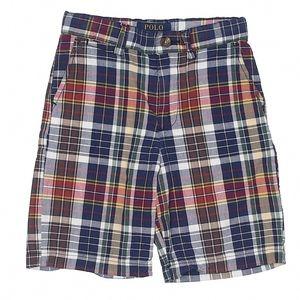 Polo by Ralph Lauren Plaid Cargo Shorts Boy's 6